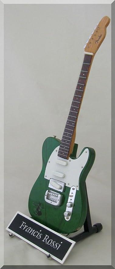 Francis Rossi Status Quo Guitarra en miniatura W/Nombre de ...