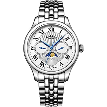 mens rotary moonphase watch gb05065 01 amazon co uk watches mens rotary moonphase watch gb05065 01