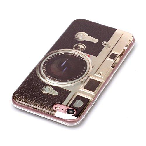 iPhone 7 Hülle Retro-Kamera Premium Handy Tasche Schutz Schale Für Apple iPhone 7 + Zwei Geschenk