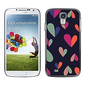 TopCaseStore / la caja del caucho duro de la cubierta de protección de la piel - Black Clean Pattern Teal - Samsung Galaxy S4 I9500