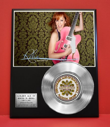 Reba Mcentire LTD Edition Platinum Record Display - Award Quality Music Memorabilia Wall Art - from Gold Record Outlet