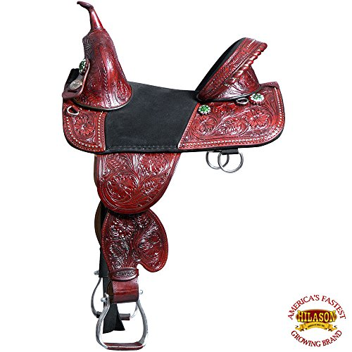 HILASON 13″ 14″ 15″ 16″ 17″ 18″ TREELESS Western Barrel Racing Trail Horse Saddle TAN/Mahogany/Beige/Black/Brown/Vintage/Oiled/Turquoise