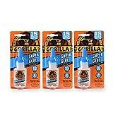 Gorilla 7805001-3 Super Glue (3 Pack), 15 g