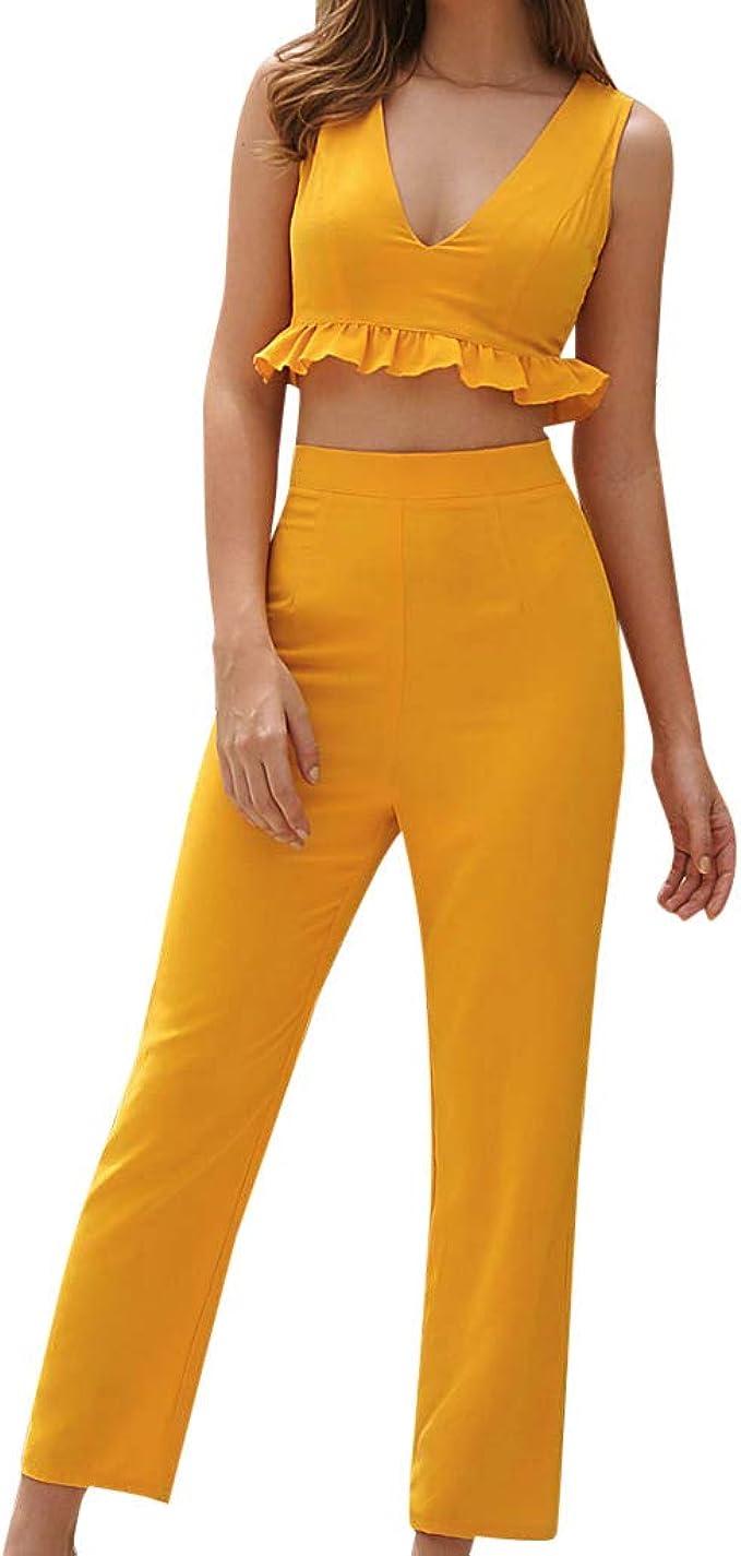 HEFYBA - Pantalón Ajustado con Cintura Alta y Falda de Camisa para ...