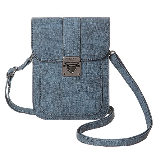 Leather Purse Synthetic Women Card Wallet Cell Bags Phone Blue2 Crossbody Slots MINICAT Small Insides xf8waqqAZ