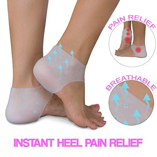heel pain relief protectors 2 pairs plantar fasciitis