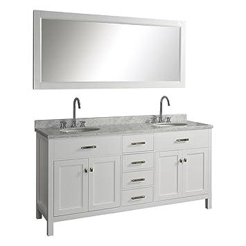 virtu usa caroline 72inch double sink bathroom