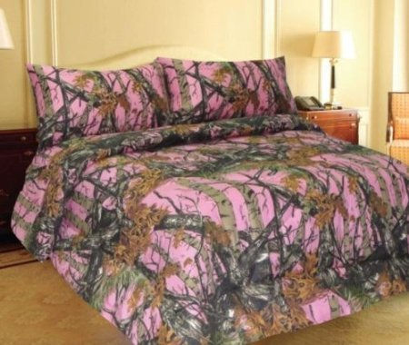 Amazon Com Pink Forest Camo Microfiber Comforter Bed