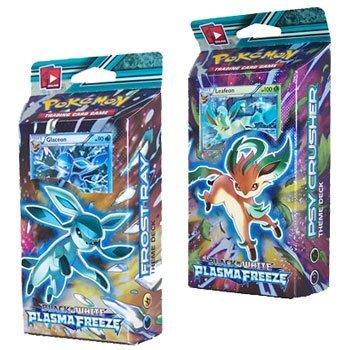 BOTH Pokemon Plasma Freeze Theme Decks (2 decks total) - Leafeon & Glaceon *RELEASES MAY 9* (Pokemon Black And White 2 Team Plasma Theme)