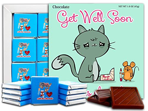 DA CHOCOLATE Candy Souvenir GET WELL SOON Chocolate Gift Set 5x5in 1 box (Cat Prime 2 0641)