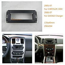 Autostereo Car Audio Radio Mounting Frame Fascia panel for CHRYSLER 300C DODGE Charger Ram JEEP Grand Cherokee Commander Compass MITSUBISHI Raider Car Stereo Fascia in Dash CD Trim Installation Kit