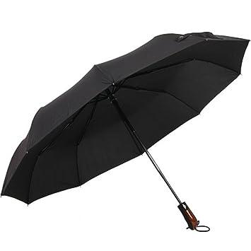 Paraguas plegable automático, antiviento paraguas portátil Resistencia compacto lluvia paraguas de viaje de alta calidad