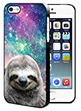 Galaxy Hipster Sloth iPhone 5/5S/SE Hard Case Back Cover