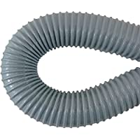 FLEX TUBE: 24 (2 foot) Flexible Tube/Hose/Pipe (for 2 vacuum pipe) for Central Vacuum System dust pan installation (and more), Gray, Vinyl over steel wire interwoven with Nylon Cord