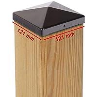 galvanizado Tapas para valla postes//pfostenabdeckung 7/x 7/cm redondo en forma o rectangular en forma de pir/ámide de bola de acero