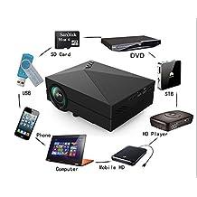 Tronfy®G60 Multimedia Mini LED Projector 800*480 1000Lumen Private Cinema support HDMI VGA AV USB TV port enjoy Video Movie Game
