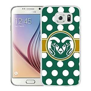 NCAA Colorado State Rams 14 White Popular Custom Design Samsung Galaxy S6 G9200 Phone Case