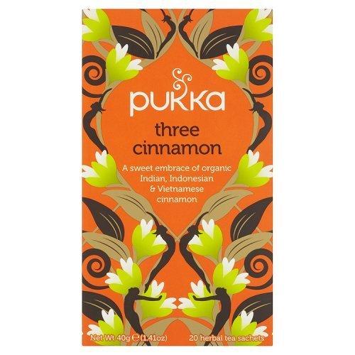 Pukka Organic Herbal Tea Three Cinnamon -- 20 Tea Bags