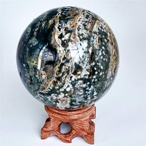 LIXUAN Ocean Jasper Sphere Crystal geode Sphere Amazing Crystal Gemstone Sphere Healing Sphere - Jasper Sphere Crystal
