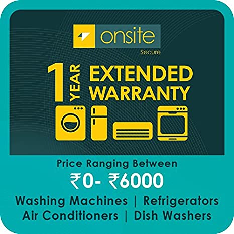 Onsite 1-year extended warranty for Large Appliance (Rs  0 to < 6000