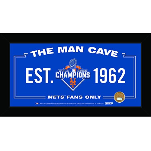 York Mets 2015 World Series Champions 6 inch by 12 inch Man Cave Sign