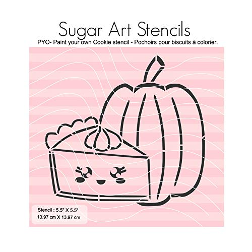 Fall Thanksgiving PYO cookie stencil pumpkin spice pie paint your own outline JN00202]()