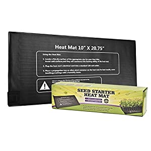 "Newcomdigi waterproof Seedling Heat Mat, Warm Hydroponic Heating Pad for Seedling, Cloning, & Germination, 10"" x 20.75"""