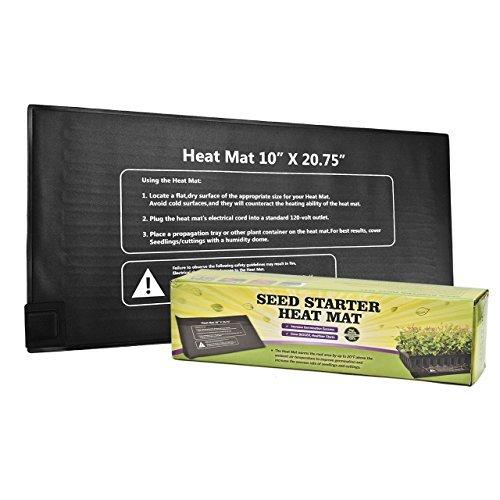 Newcomdigi waterproof Seedling Heat Mat, Warm Hydroponic Heating Pad for Seedling, Cloning, & Germination, 10'' x 20.75'' by Newcomdigi