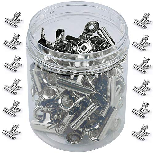 Tugaizi 50 Pack Heavy Duty Push Pins Clips with Pins for Cork Boards, Bulletin Boards and Cubicle Walls for Office School Home and No Damage to The Paper