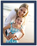 Malden International Designs Navy Blue Concept Wood Picture Frame, 8-Inch by 10-Inch