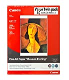 Canon Fine Art Paper Museum Etching 8.5 x 11 Inches (40 Sheets)