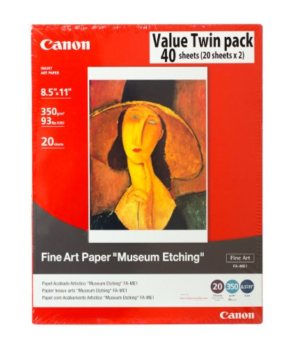 Canon Fine Art Paper Museum Etching 8.5 x 11 Inches (40 Sheets) by Canon