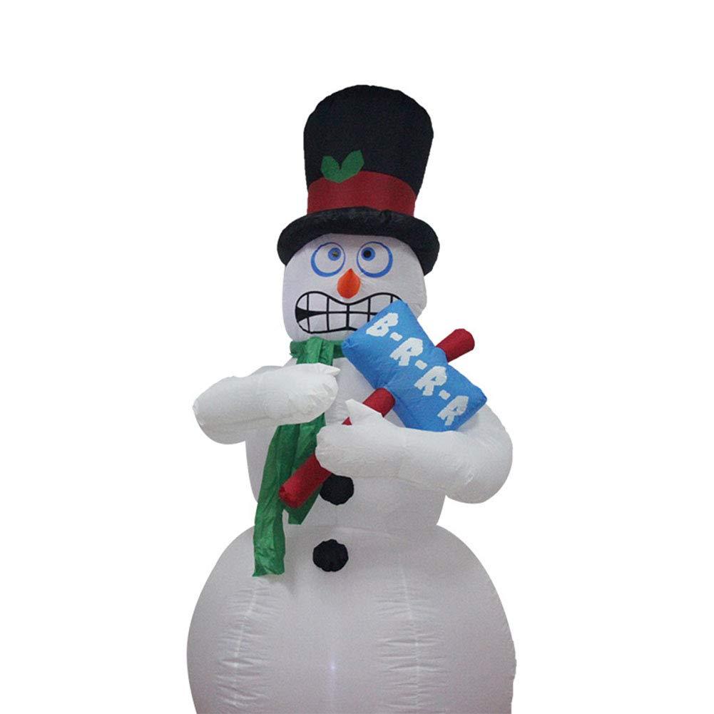 LanLan Globos de muñeco de Nieve Hinchable de tamaño de 1.8 m la ...