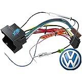 connecteur ISO Volkswagen - cable adaptateur autoradio pour VW GOLF / POLO / PASSAT avec connecteur antenne fakra amplifi?