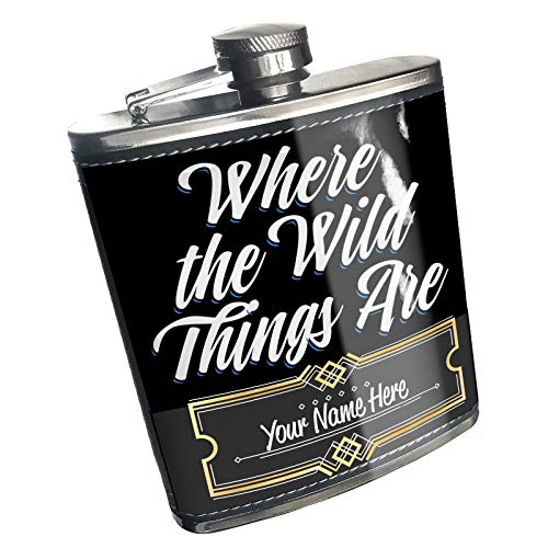 (Neonblond Flask Classic design Where the Wild Things Are Custom Name Stainless Steel)