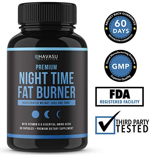 Night Time Weight Loss Pills with Premium Vitamin D, Green Coffee Bean Extract, White Kidney Bean Extract, L-Theanine, L-Tryptophan, Melatonin- Non Habit Forming PM Fat Burner & Metabolism Booster by Havasu Nutrition (Image #5)
