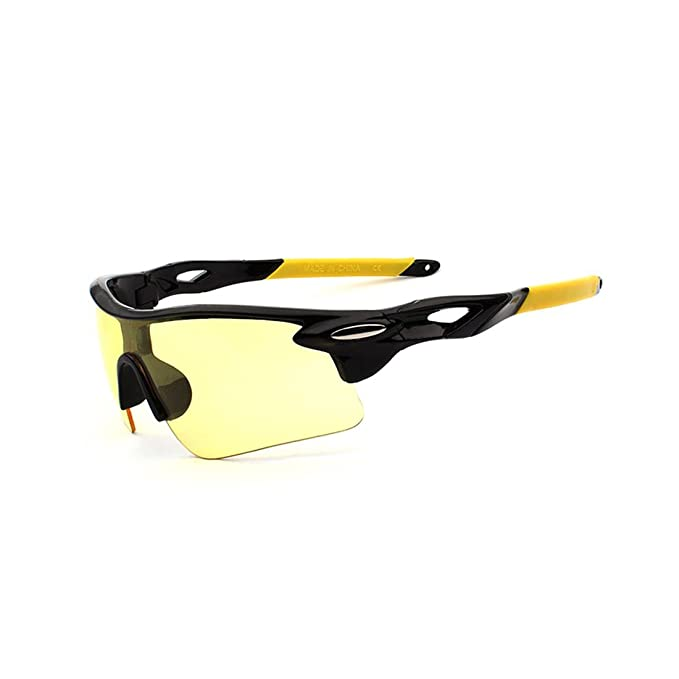 abf3b02afd3 Amazon.com  Novadab Tour De France Ultra-Stylish Sporty Sunglasses  (Yellow)  Clothing
