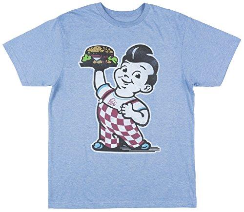 Apparel Zoo Basics BOBS Big Boy Burgers Mens SS Vintage T-Shirt In Blue