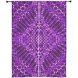 "CafePress Purple Diffraction Pattern Curtains - 84"" Window Curtains, Shear Window Treatment"
