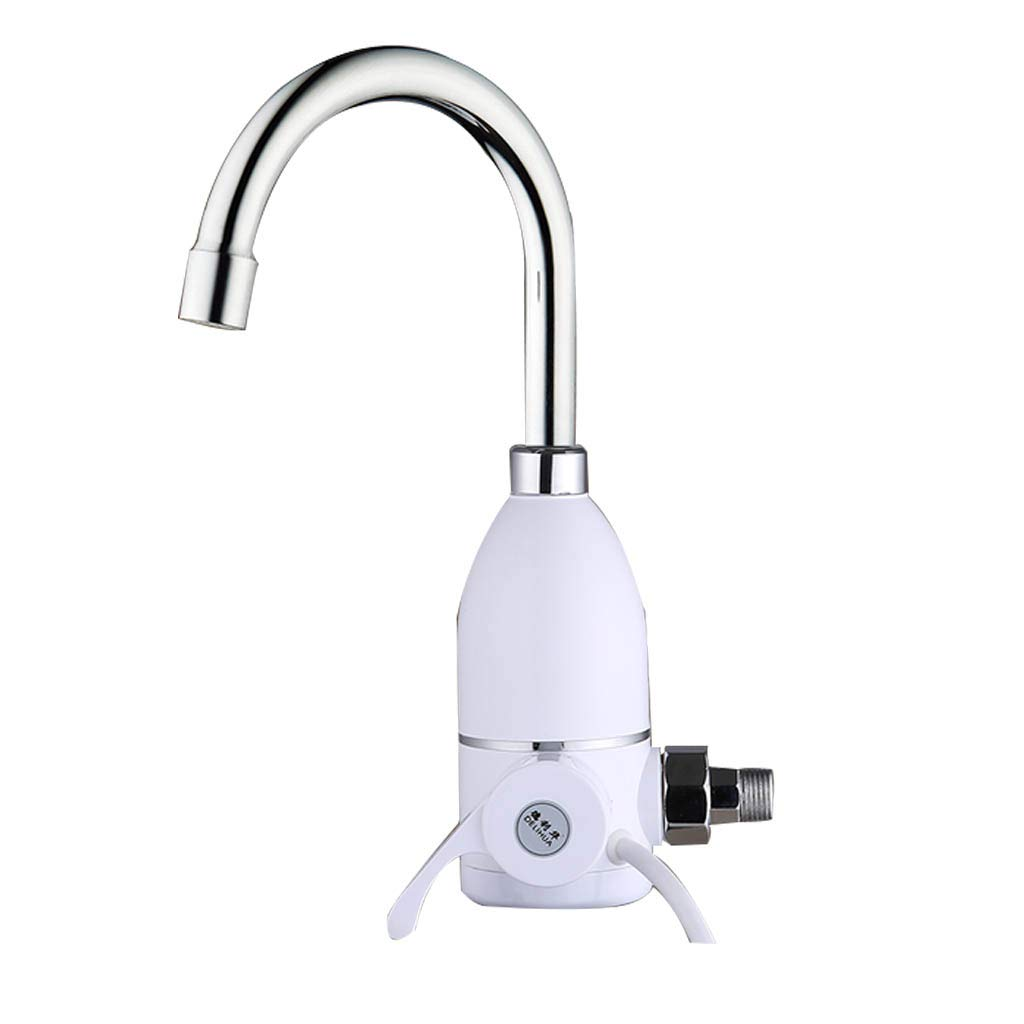 Kitchen Electric Water Heater Faucet Supply Hot and Cold Water Tap Instant Tankless Electric Water Heater 360 Degree Rotation Instant Water Heating Tap Roscloud@