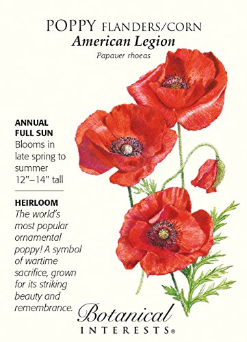 American Legion Poppy Seeds - 1 gram - (Red Flanders Poppies)