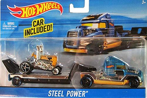 (Hot Wheels Hauling Rig Car - Truck Set - Steel Power)