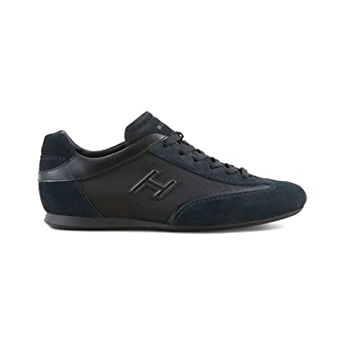 nouveau concept b49fa 07add Hogan Olympia in Leather and Suede Black, Homme, Taille 5,5 ...