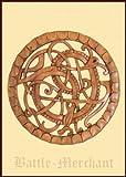 Serpiente de Midgard de madera, talladas a mano - señal - Vikingo - teutones - Anillo - Edda