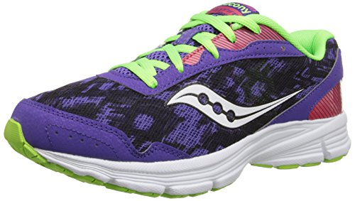 Saucony Womens Sapphire Road Running Shoe Purple/Slime/Red