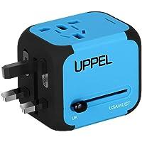 Universellen Reise-Adapter mit Doppel USB-Ports aus 150 Ländern weltweit US UK EU AU Universal fusionierten Sicherheit AC-in Einem Ladegerät (Blue)