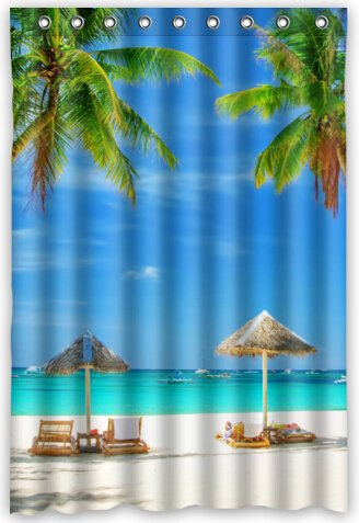 Image Unavailable Not Available For Color Popular Design Beach Chair Shower Curtain