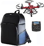 Navitech Rugged Black & Blue Backpack / Rucksack For The GoolRC T5G FPV Drone