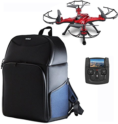 Navitech Rugged Black & Blue Backpack/Rucksack Compatible with The GoolRC T5G FPV Drone