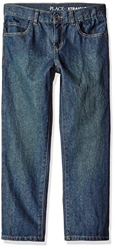 The Children's Place Boys Slim Size Straight Leg Jeans, Dry Indigo, 12 Slim